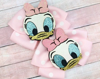 Donald Details about  /Handmade Hair Bows Disney Mickey and Friends Daisy   List #2