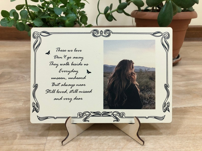 sympathy gift brother  Memorial photo frame   Bereavement Gift  memorial gift  in memory of loss of brother  remembrance gift