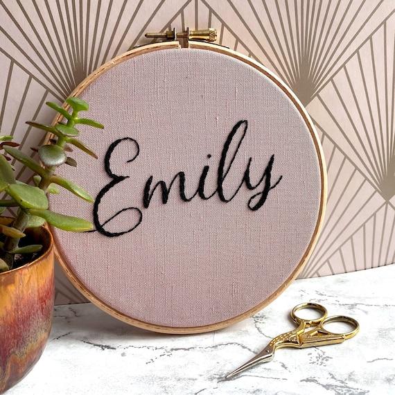 Custom Name Modern Embroidery Hoop