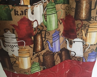 """Coffee Lover""""s Tote--REVERSIBLE!"""