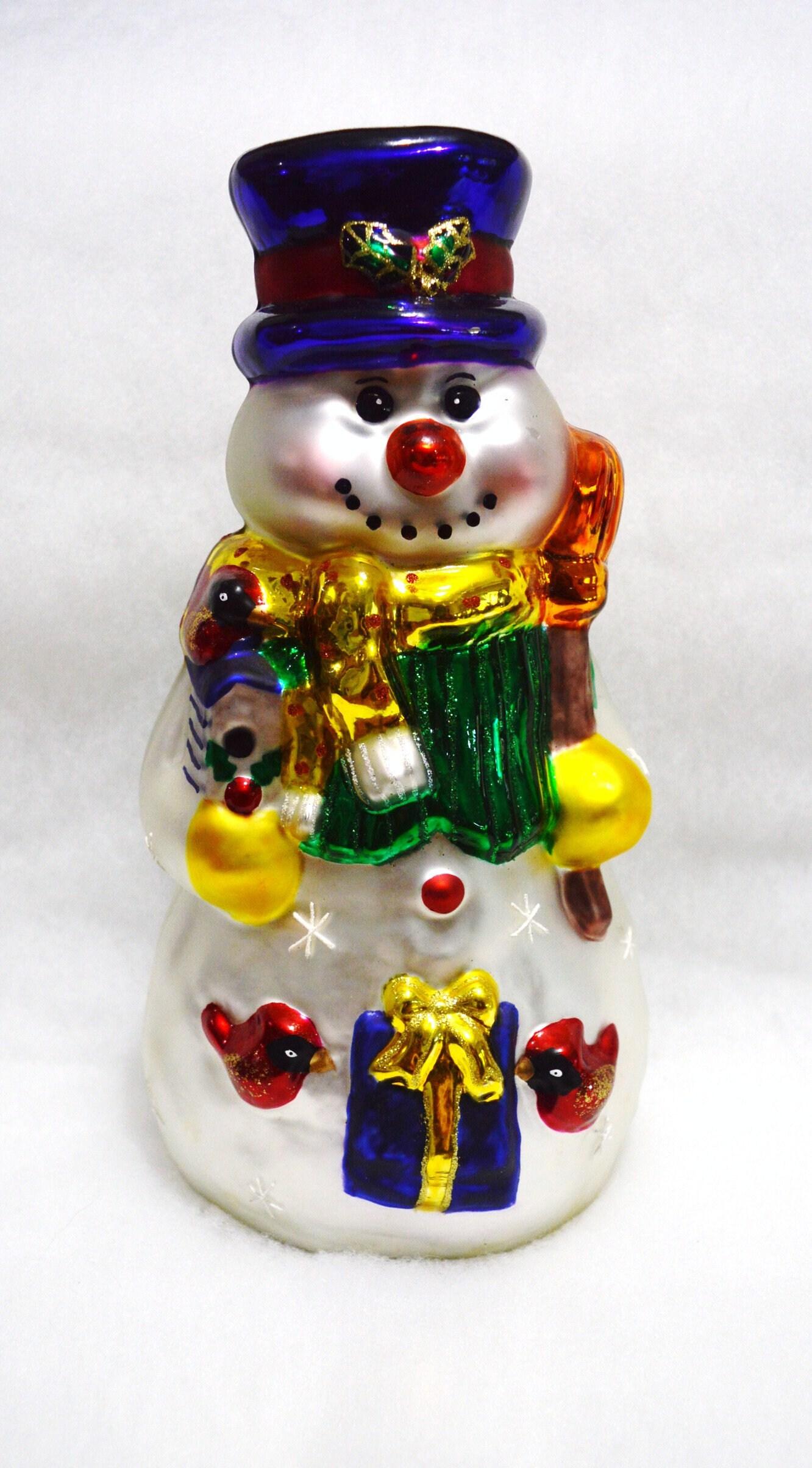 POSTAL SERVICE USPS U.S Hand Painted Glass Santa Ornaments Set of 4 **NEW**