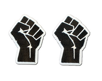 Black Power Fist Resist Embroidered Iron-On Patch 2.25 x 3.25 Black Lives Matter BLM Martin Luther King Civil Disobedience I Can/'t Breathe