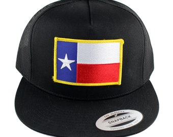 91cba19b0f9 Flexfit 5 Panel TEXAS State Flag Embroidered Iron On Patch Snapback Mesh Cap-  3 Colors