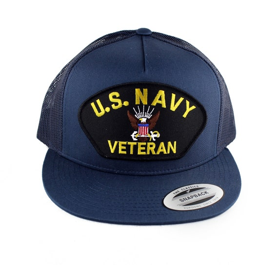 3e58639e77f Flexfit 5 Panel U.S. NAVY Veteran Embroidered Iron On Patch