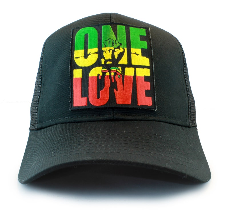 Rasta ONE LOVE   Fist Symbol Embroidered Iron On Patch  941f45fcb38b