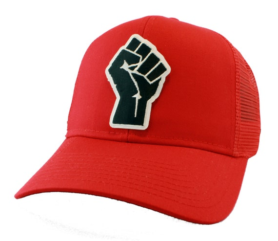 Black Power Fist Symbol Embroidered Iron On Patch Snapback  835a367a882b