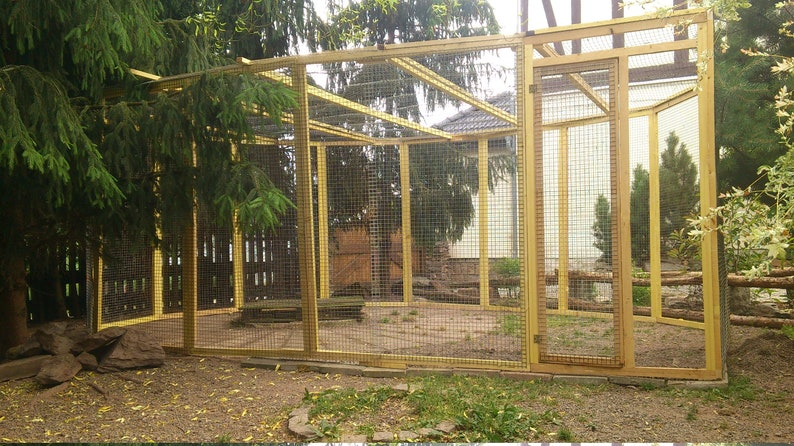 1 X 2 M Aviary Enclosures Stall Box Cage Freewheel Cat Rodent Ferrets Rats Degus Sea Rabbit Huner Duck Pigeons