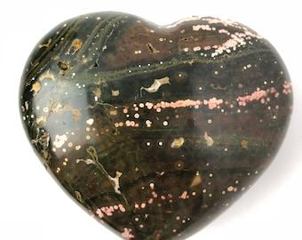Ocean jasper heart, orbicular jasper, diaspro orbicolare