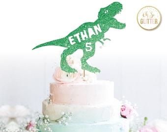 Dinosaur Cake Topper Etsy
