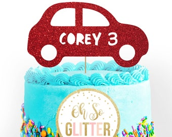 Car Cake Topper Etsy