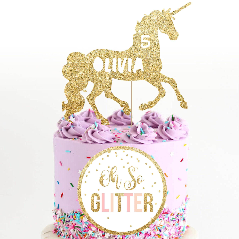 Large Unicorn Cake Topper Custom