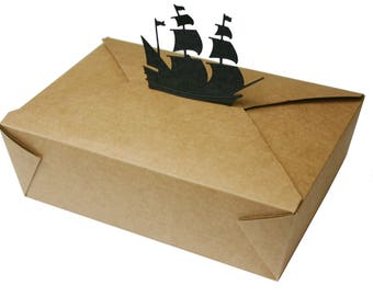 5 Handmade Pirate Lunch Boxes for Childrens' parties