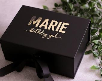 Personalized Gift Box, Bridesmaid Proposal Box, Wedding Gift Box, Birthday Gift Box, Personalized box with name, Bridesmaid Gift Box