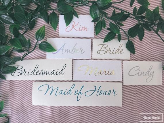 Glitter Word Wedding Stickers