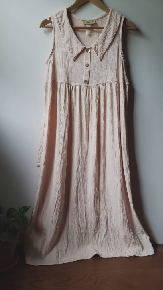 Vintage Pink/White Gingham Sun Dress