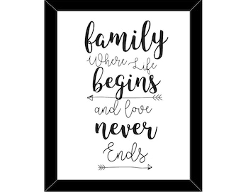 Family Quote Etsy