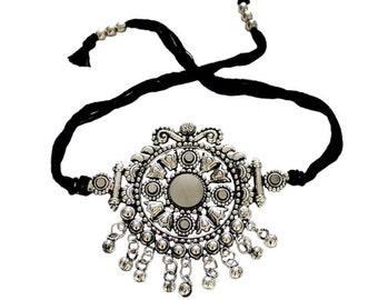 Banjara Indian Silver Tie Armlet