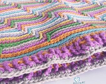 Forever Eileen Crochet Blanket Pattern / Baby Blanket / Throw / Jacob's Ladder / Apache tears / Afghan