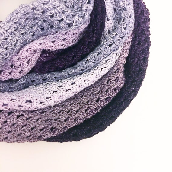 Infinity Whirl Crochet Cowl Pattern Infinity Scarf Grannie Etsy