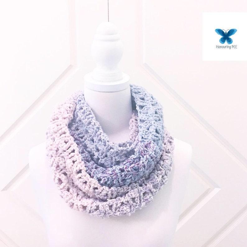 Coco Lola Scarf Pattern  infinity scarf  crochet pattern  image 0