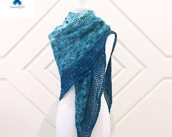 Winter Green Shawl Pattern   shawl pattern   crochet shawl   triangle shawl   crochet pattern  