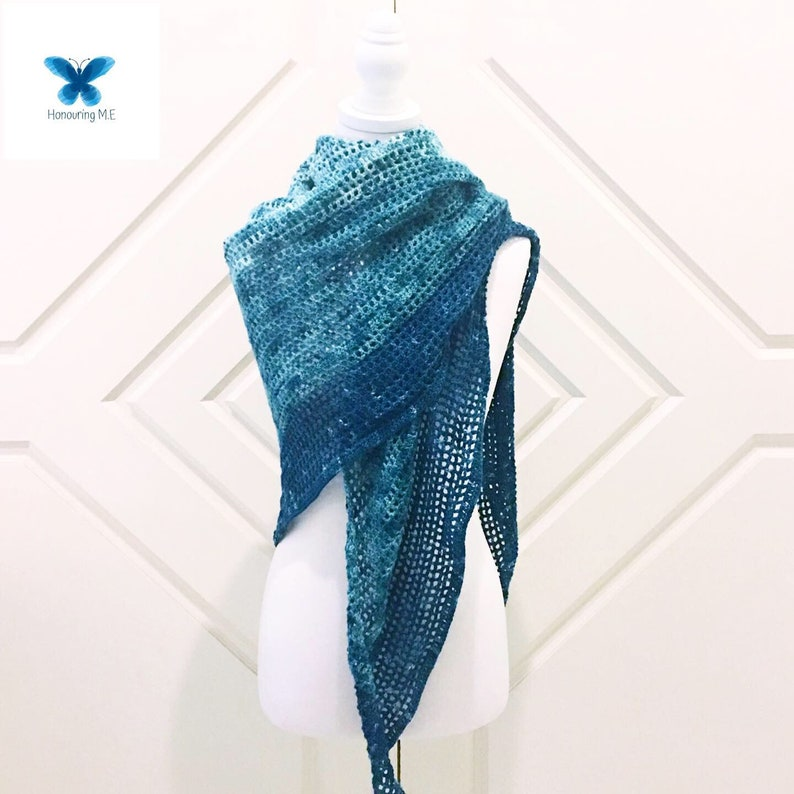 Winter Green Shawl Pattern  shawl pattern  crochet shawl  image 0