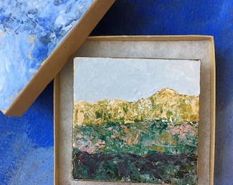 Miniature Original Acrylic Mountain Painting #19