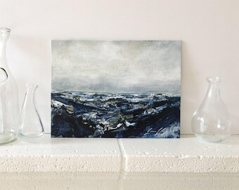 """Original Acrylic Abstract Seascape Painting """"Inkwell"""""""