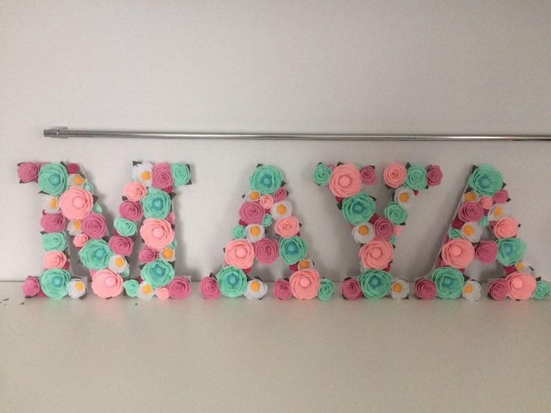 Flower Name Flower Name for Nursery Flower Letter for | Etsy