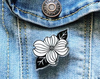 Dogwood Pin, Acrylic Pin, Decorative Pin