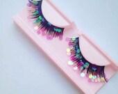 Pink Disco glitter eyelashes