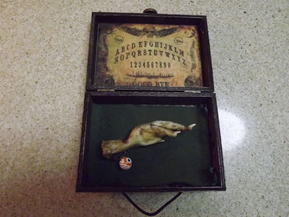Voodoo Amulet Chicken Foot In Wood Box Magic Witchcraft Occult Etsy