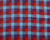 Made to Order - Cotton Flannel Pillowcase - Plaid - Blues and Red - Lightweight