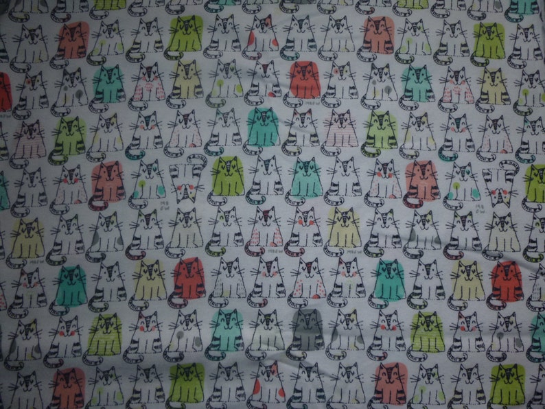 Made to Order Cotton Flannel Pillowcase Colorful Outlined Cats