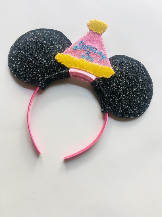 Birthday Girl Mouse Ears Mickey Hat Headband For