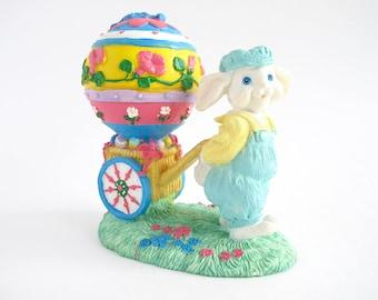 Vintage Easter Figurine, Ceramic Easter Bunny