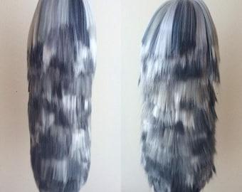 Grey Wolf Yarn Tail Keychain