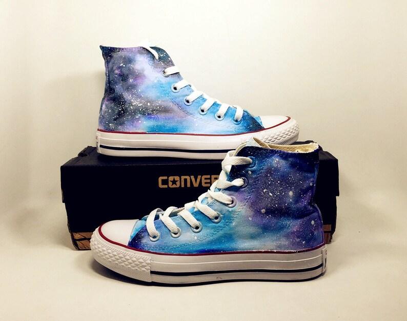 Calzado galaxia Converse zapatillas de deporte personalizadas