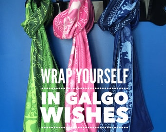 As Galgos Wish on a Dandelion Limited Edition Fleece Scarf