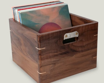 0bb73697b7dd Walnut Record Crate