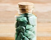 Natural Malachite Crystal Chips in Glass Vial, Gemstone Chips, Real Crystals, Apothecary, Witch, Spell, Pagan, Magic, Unique Gift Idea 528
