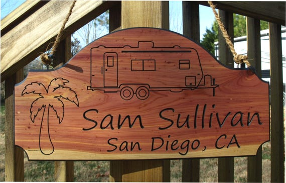 Customizable RV Sign  Personalized Camping Sign Custom Camp Sign Custom campsite