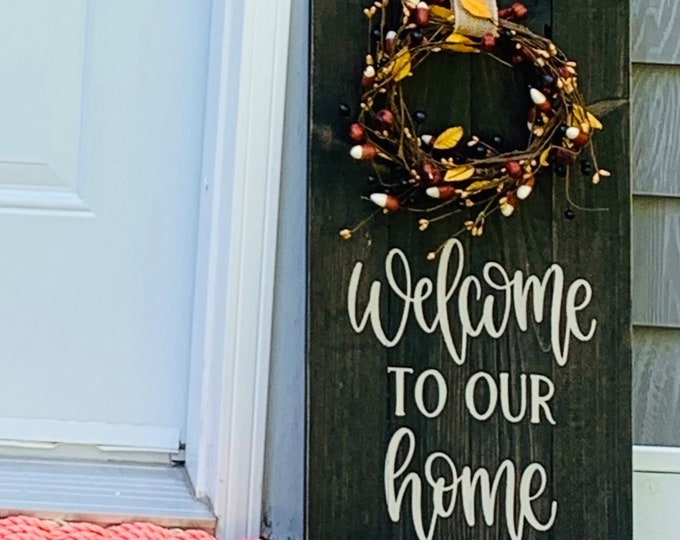 Wooden  Door/ Wall  Decor-Welcome to Our Home
