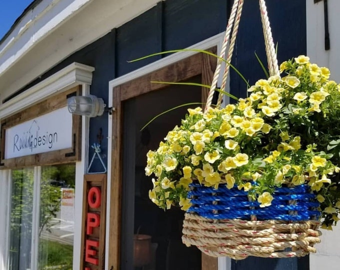 "Hand Woven Rope 10"" Hanging Baskets"