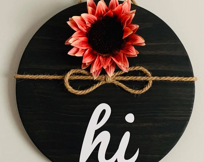 Wooden Door/ Wall Hanger - Hi