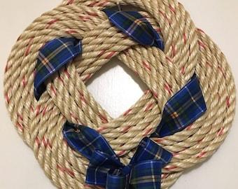 HandwovenTurks Head Wreath with Nova Scotia Tartan (4 byte)