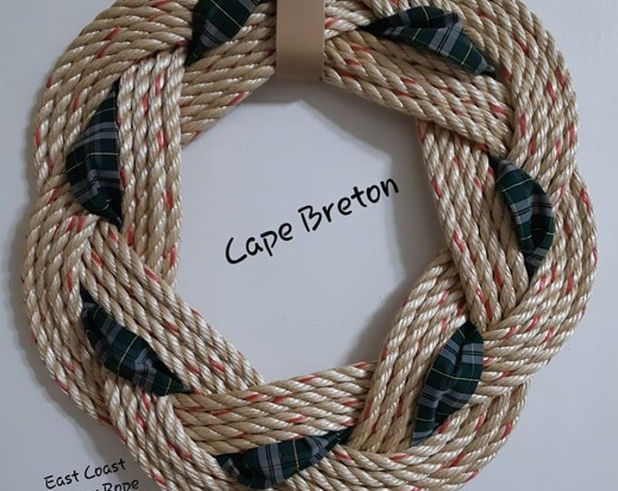 Handwoven Turks Knot Wreath -  Cape Breton Tartan - 7 Byte