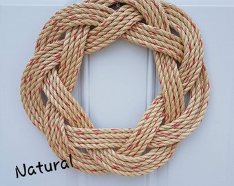 Handwoven Turks Knot Wreath - Assorted Colours - 7 byte Appx 15""