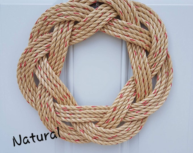 Handwoven Turks Knot Wreath - Assorted Colours - 7 byte