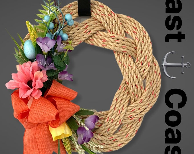 Handwoven Rope Wreaths- Spring Decor